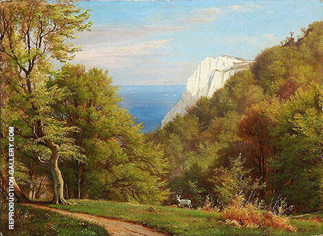 Summer Day at Mons Klint Painting By Carl Frederic Aagaard