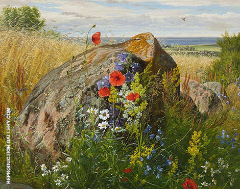 Wildflowers by a Cornfield By Carl Frederic Aagaard