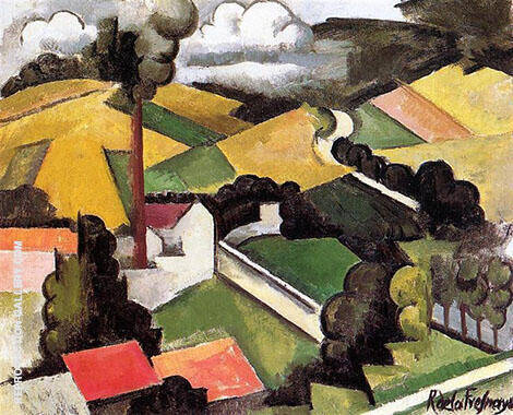 The Factory Chimney Meulan Landscape 1912 Painting By Roger de La Fresnaye