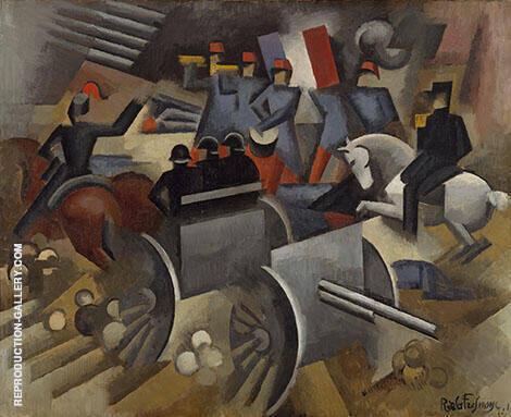 Artillery 1911 Painting By Roger de La Fresnaye - Reproduction Gallery