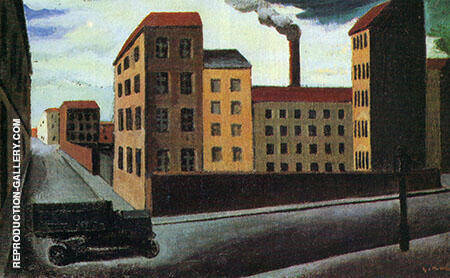 Cityscape with Truck By Mario Sironi