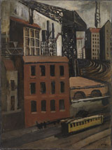 Periphery with Tramway and Crane 1921 By Mario Sironi
