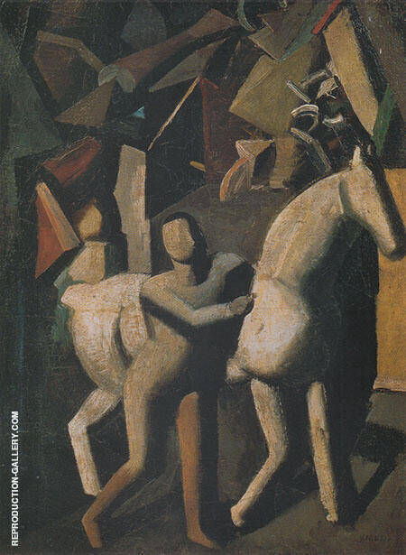 The White Horse 1919 By Mario Sironi
