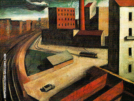 Urban Landscape 1922 Painting By Mario Sironi - Reproduction Gallery