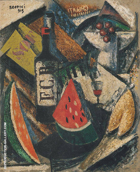 Fruit and Liquers 1915 Painting By Ardengo Soffici - Reproduction Gallery