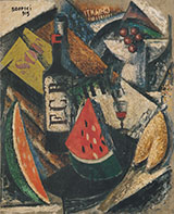 Fruit and Liquers 1915 By Ardengo Soffici