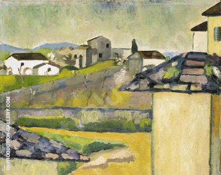 Paesaggio Painting By Ardengo Soffici - Reproduction Gallery