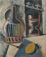 Trophy Still Life Lemon Pipe etc c1914 By Ardengo Soffici
