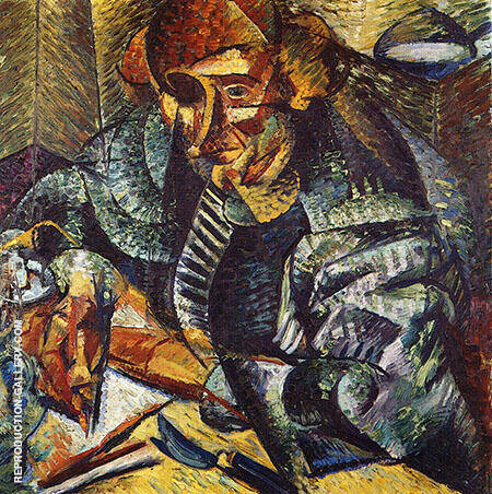 Antielegancia 1912 Painting By Umberto Boccioni - Reproduction Gallery