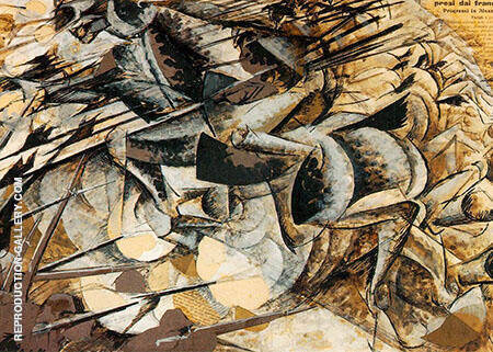 Charge of The Lancers Painting By Umberto Boccioni - Reproduction Gallery