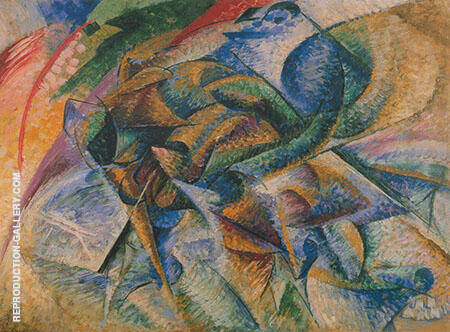 Dynamism of a Cyclist 1913 Painting By Umberto Boccioni