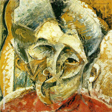 Dynamism of a Womans Head By Umberto Boccioni