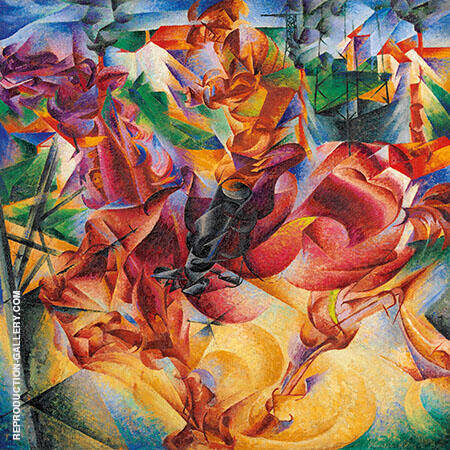 Elasticity Painting By Umberto Boccioni - Reproduction Gallery