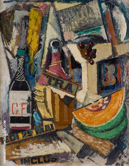 Popone e fiasco di vino Painting By Umberto Boccioni