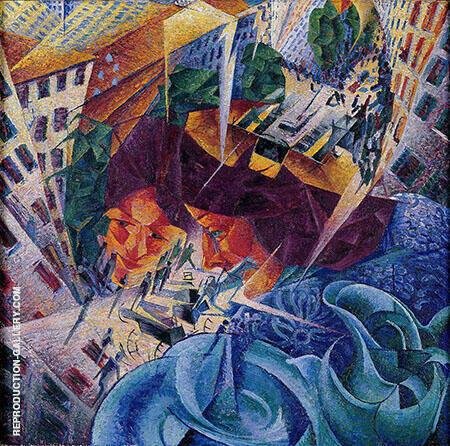 Simultaneous Visions Painting By Umberto Boccioni - Reproduction Gallery