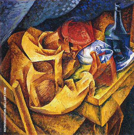 The Drinker il Bevitore 1914 Painting By Umberto Boccioni