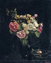 Roses Sur Fond Noir 1932 By Andre Derain