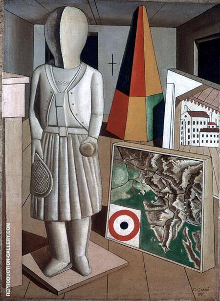 La Musa Metafisica 1917 Painting By Carlo Carra - Reproduction Gallery