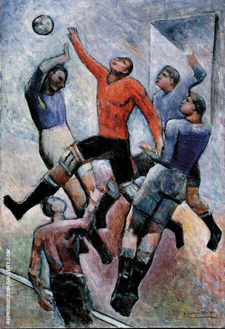 Partita di Calcio Painting By Carlo Carra - Reproduction Gallery