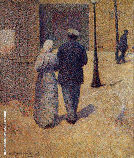 Couple in The Street By Charles Angrand