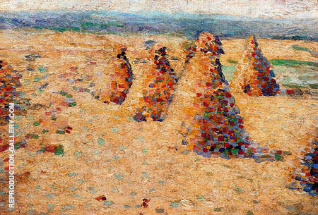 Hay Ricks in Normandy By Charles Angrand