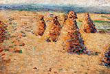 Hay Ricks in Normandy By Charles Angrand