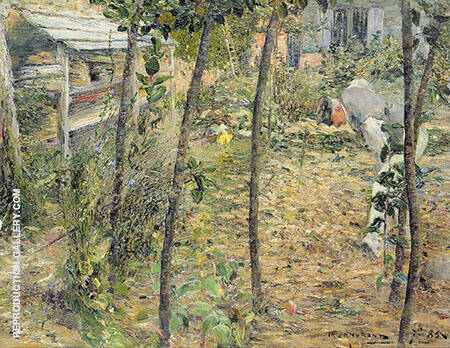 In The Gardeners Garden at Criquetot sur Ouville By Charles Angrand