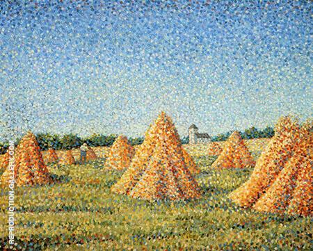 La Moissson By Charles Angrand