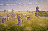 The Harvesters By Charles Angrand