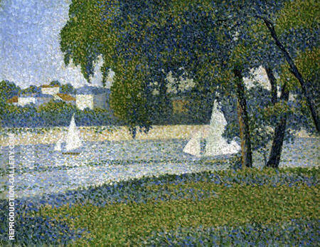 The Seine at Courbevoie By Charles Angrand
