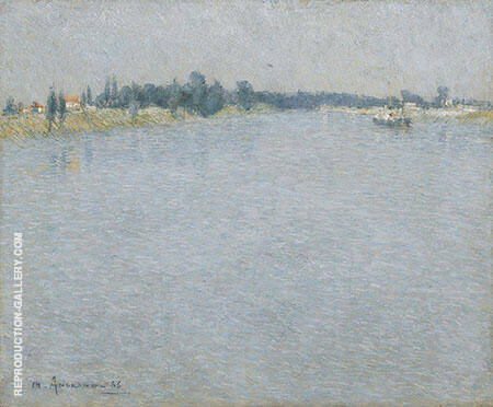 The Seine Morning By Charles Angrand