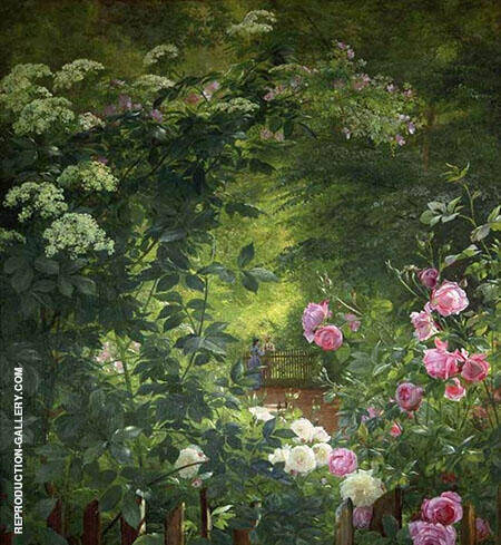 The Rose Garden Painting By Carl Frederic Aagaard - Reproduction Gallery