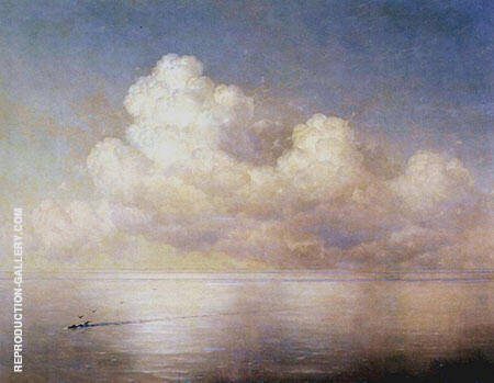 Clouds over The Sea on a Still Day By Ivan Aivazovsky