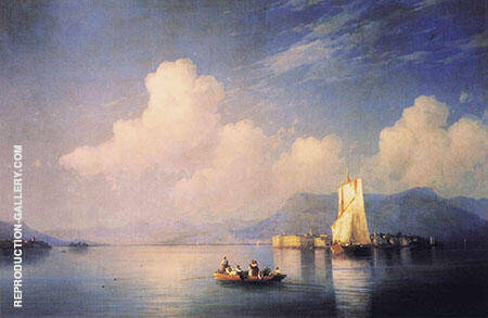 Lake Maggiore in The Evening Painting By Ivan Aivazovsky