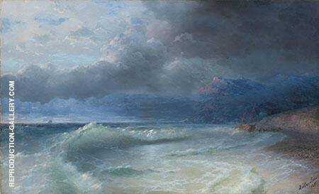 Shipwreck on a Stormy Morning Painting By Ivan Aivazovsky
