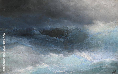 Stormy Sea Painting By Ivan Aivazovsky - Reproduction Gallery