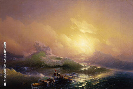 The Ninth Wave from 1850 By Ivan Aivazovsky