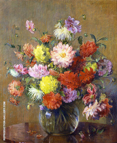 Dahlias By Carle John Blenner