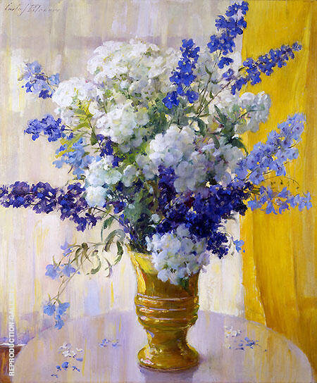 Phlox and Delphiniums By Carle John Blenner