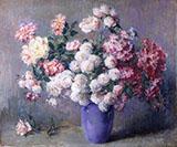 Roses in a Blue Vase By Carle John Blenner