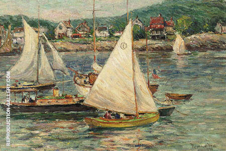 Yachts at Rockport Massachusetts 1936 By Reynolds Beal