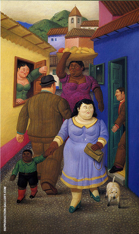 La Calle The Street By Fernando Botero