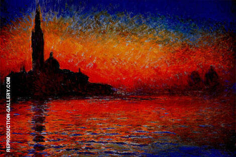 Venice at Sunset c1908 Painting By Claude Monet - Reproduction Gallery