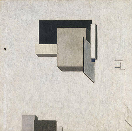 Proun 1 C Painting By El Lissitzky - Reproduction Gallery