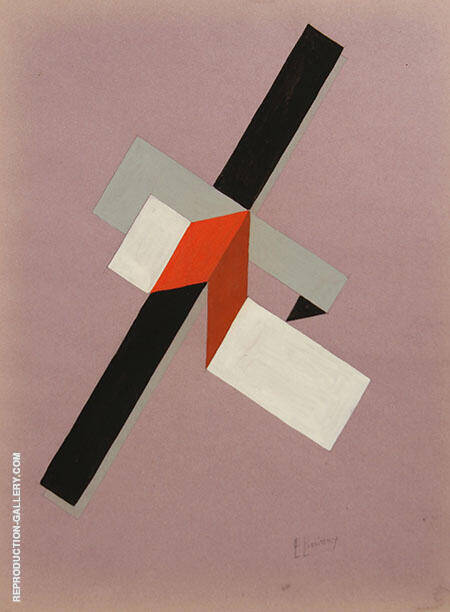 Proun 1922 Painting By El Lissitzky - Reproduction Gallery