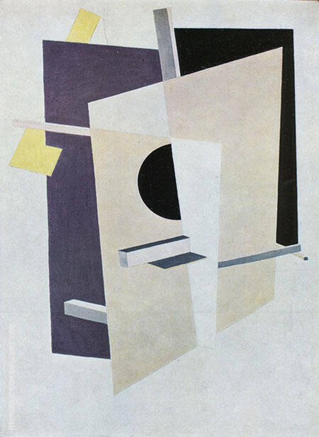 Proun Interpentrating Planes 1921 Painting By El Lissitzky