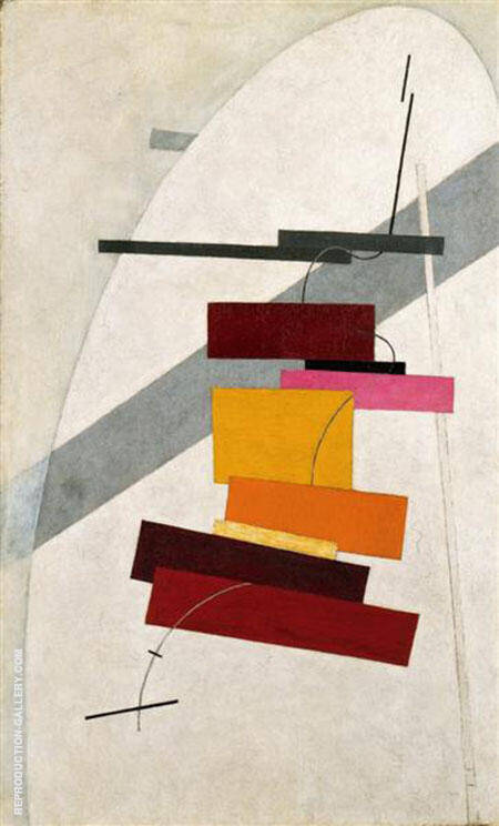 Untitled 1920 Painting By El Lissitzky - Reproduction Gallery