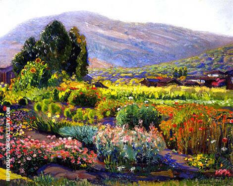 The Garden in Laguna By Joseph Kleitsch