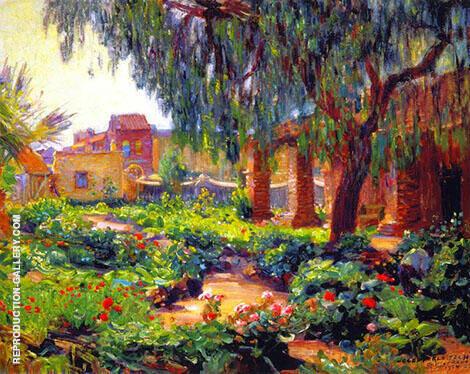Garden Landscape By Joseph Kleitsch