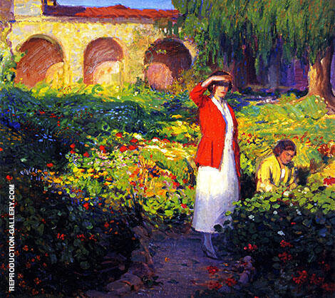 In the Garden By Joseph Kleitsch